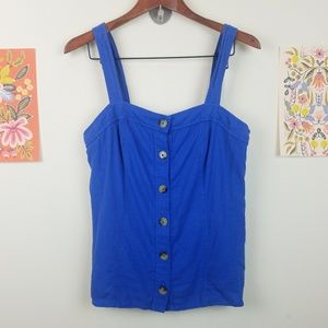 Maeve by Anthropologie Button Down Tank Top